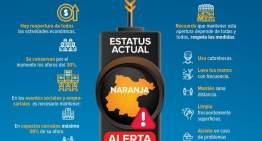 Guanajuato: En semáforo naranja, con alerta.