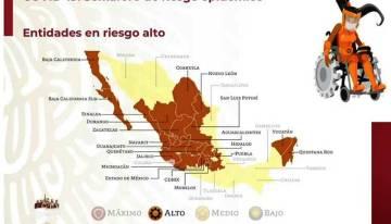 Guanajuato sigue  con el semáforo federal en color naranja