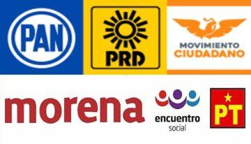 Presentan los partidos políticos  dos solicitudes para formar coaliciones