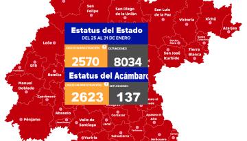 Guanajuato llega a los 8,034 decesos ; mientras que  Acámbaro ya tiene 137