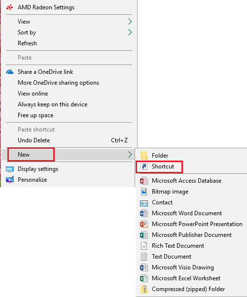 How to start word with a specific template system management on your desktop or wherever you want right click and select new shortcut toneelgroepblik Choice Image