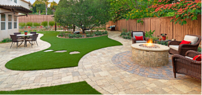 outdoor living design hardscaping