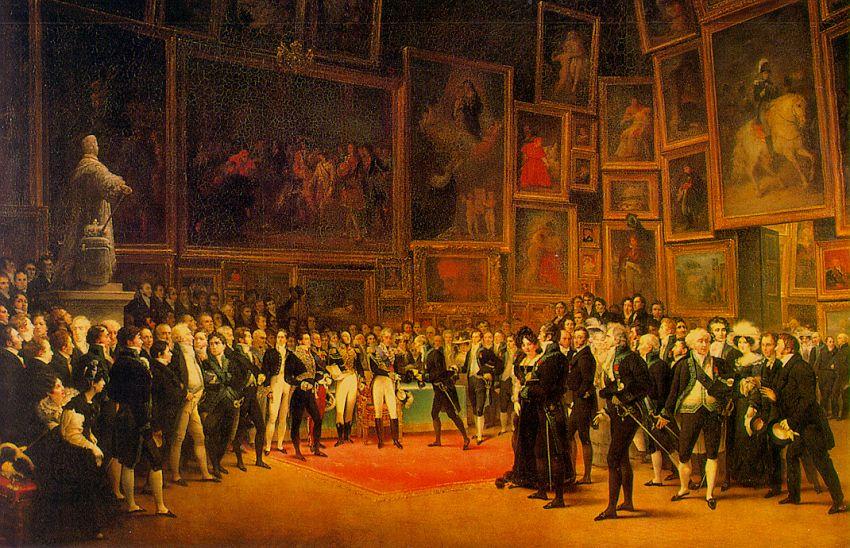1824 Salon de Paris, official Academic Art exhibition of the Académie des Beaux-Arts
