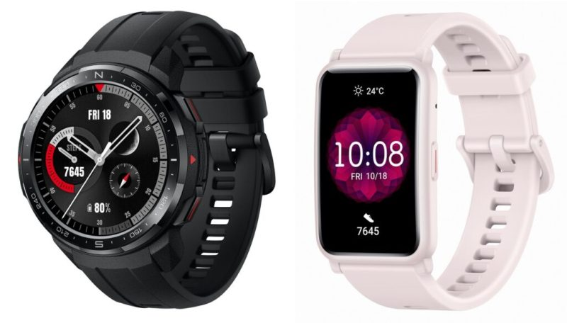 Honor's two smartwatches: Watch GS Pro (left) and Watch ES (right). Credits: Pocketnow