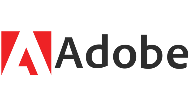The logo of Adobe, the famous company founded by Geschke and Warnock.