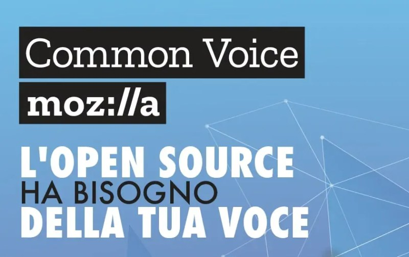 Common Voice, Mozilla's initiative to create a database of voice recordings. Source: Mozilla Italy
