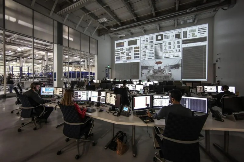 control center and test software in SpaceX