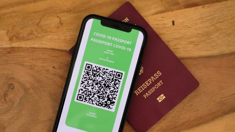 The QR code on the Green Pass.
