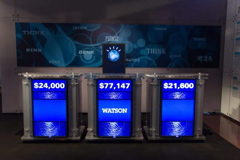 Watson against Jeopardy competitors. Source: Atomic Taco on Flickr