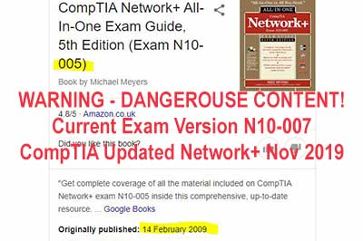 CompTIA Exam Practice WARNING - DANGEROUSE CONTENT out of date