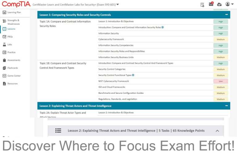 CompTIA CertMaster Learn Part 02 of Systems Master Success Kit Lessons discover where to focus your exam efforts