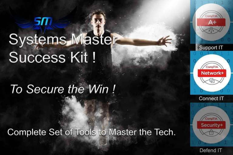 Free Network+ Success kit with every Systems Master CompTIA Network + Course worth £602.40