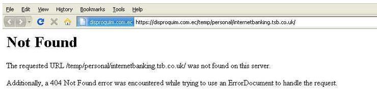 Fake TSB Website [disproquim com ec] - SystemTek