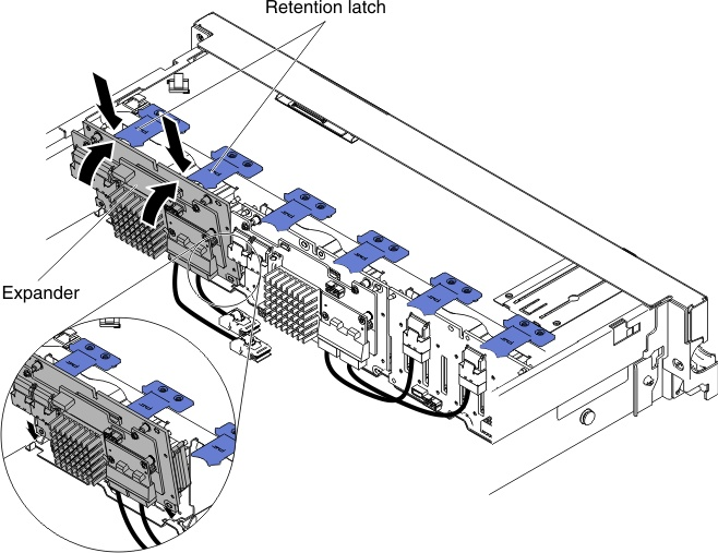 Installing the 8x2.5-inch hot-swap HDD assembly kit with