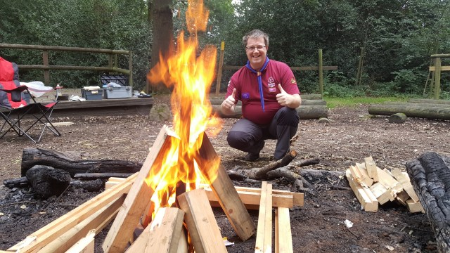 Jonathan Preparing the Campfire