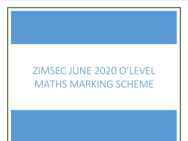 Zimsec June 2020 Maths O Level Paper 1 Marking scheme.pdf