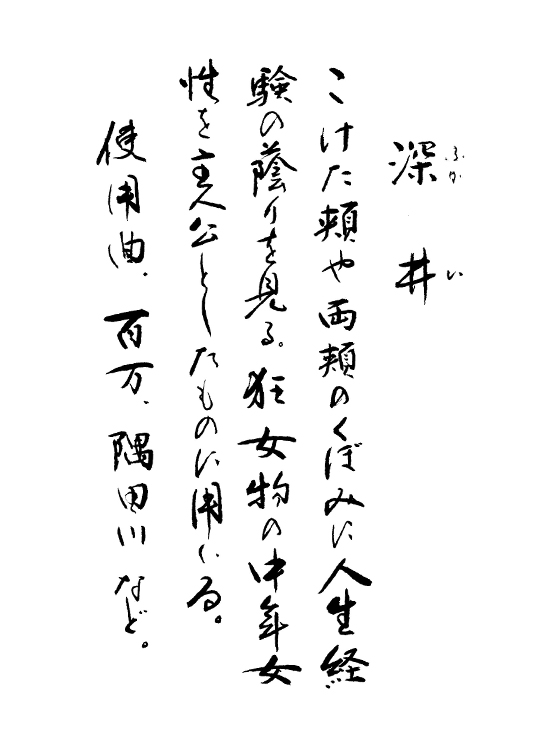 深井 手書き解説