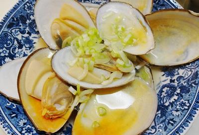 白貝の酒蒸しレシピ
