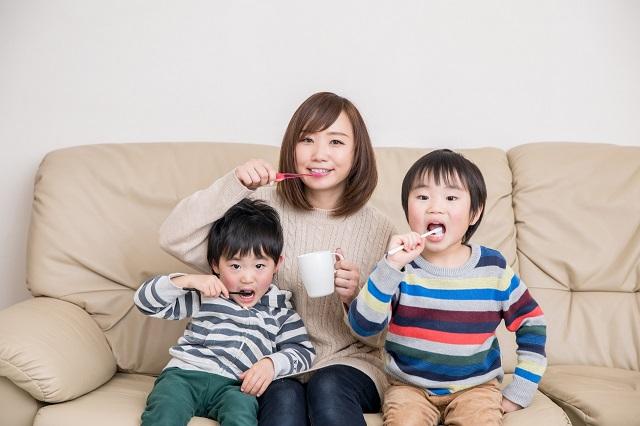 3歳の子供の歯磨き