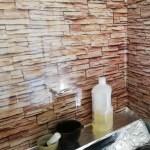 キッチン汚れ防止シートby100均でキッチンをレンガ調DIY実践!