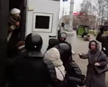 Видео разгона акций в Минске