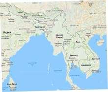карта государства Мьянма