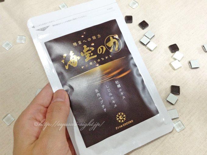 次世代亜鉛サプリ「海宝の力」の口コミ:海宝の力のパッケージ