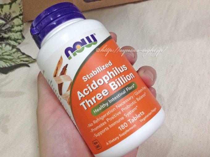 Now Foods, 安定化アシドフィルス菌、300億個、180錠