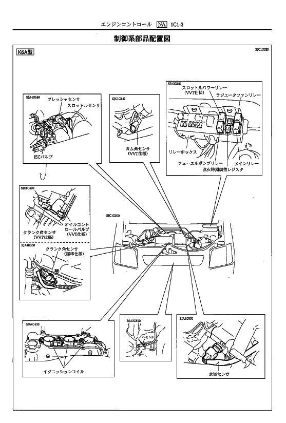 ワゴンR MC12S K6A ハンチングする エンスト後しばらく再始動できない