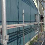 外壁スレート部分に塗装工事