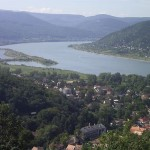 kilátás a hegyről Visegrádon