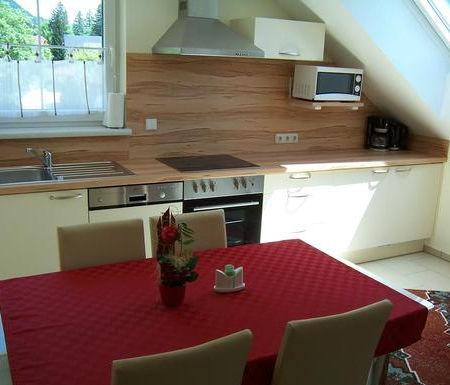Bad Mitterndorf vendégház Landhaus Jasmin étkező-konyha