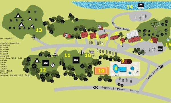 Izola térkép