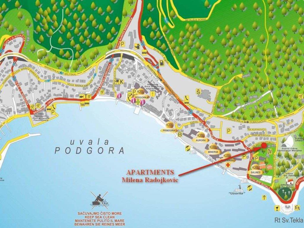 podgora térkép Podgora apartman térkép   Szállás és látnivaló, nyaralás és utazás