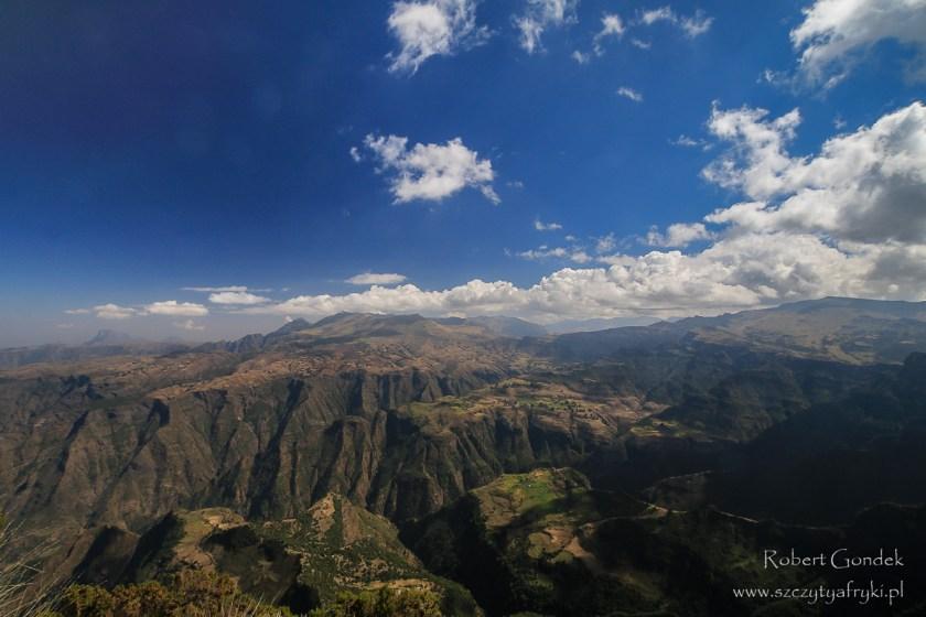 Góry Semien w drodze na najwyższą górę w Etiopii