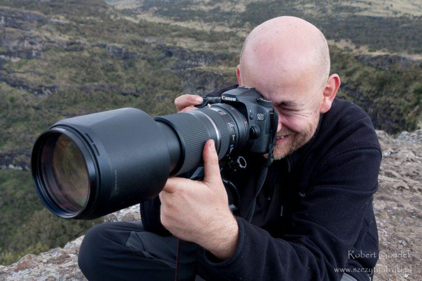 Robert Gondek z aparatem