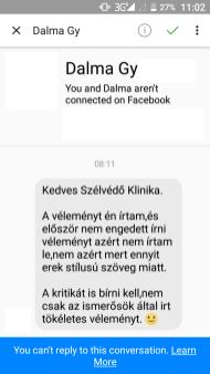 Dalma írta Ferenc helyett. Szánalmas...