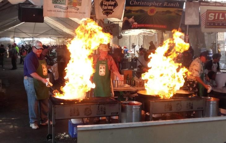 gilroy fokhagyma fesztivál tűz