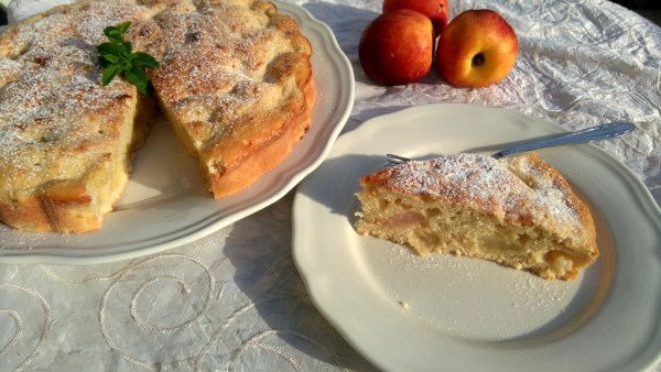 Gyömbéres-őszibarackos sütemény