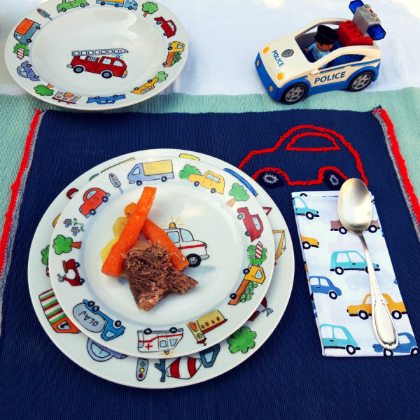 autós étkészlet