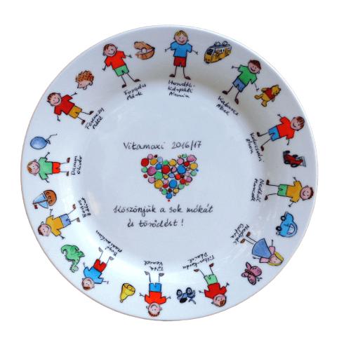 Ballagási tányér jelek+gyerekek