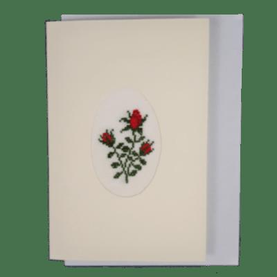 képeslap rózsacsokor