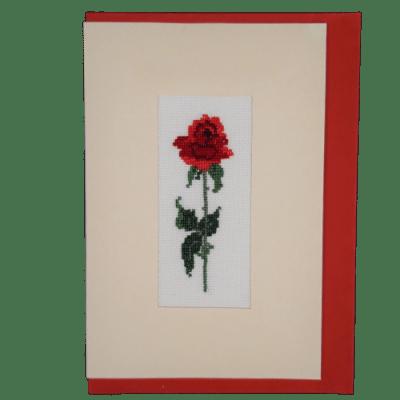 képeslap rózsaszál