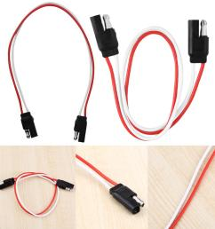 details about 1 25ft 2 pin sae plug trailer light wiring harness extension flat wire connector [ 1001 x 1001 Pixel ]
