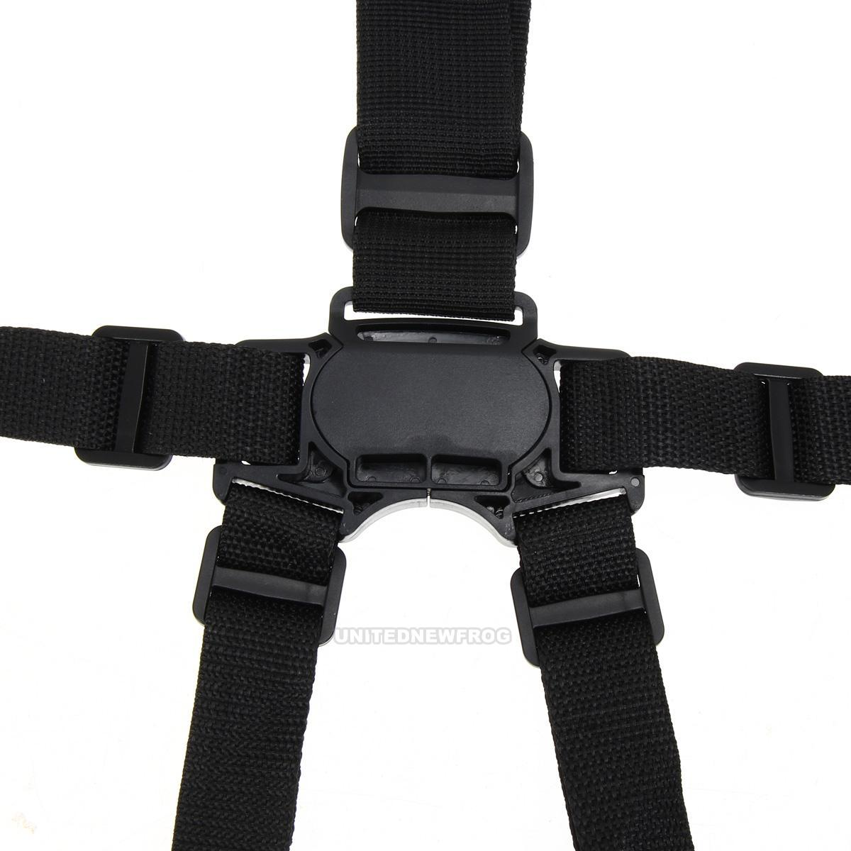 baby portable high chair safety harness wicker cushions canada 5 point strap safe belt seat belts for