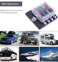 details about universal car boat 8way circuit standard ato atc blade fuse box block holder [ 1001 x 1001 Pixel ]