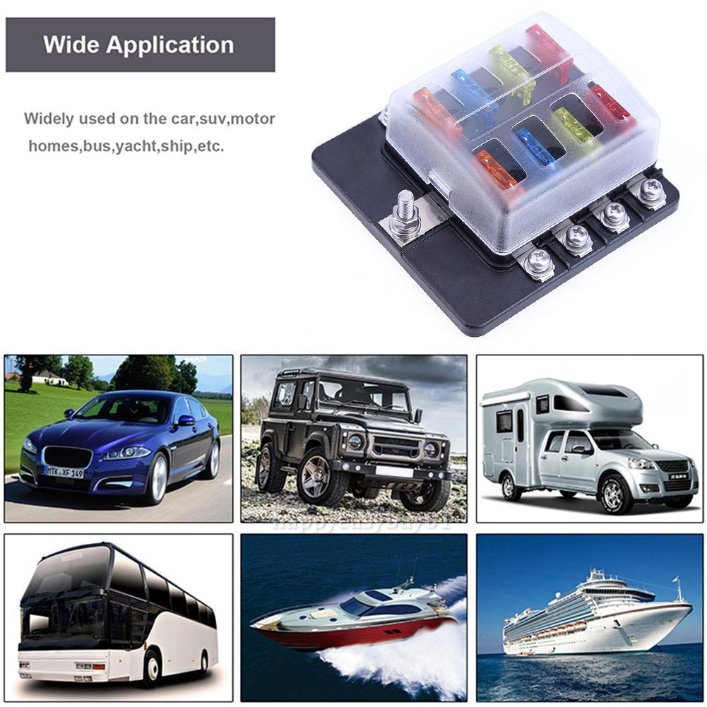 hight resolution of details about universal car boat 8way circuit standard ato atc blade fuse box block holder