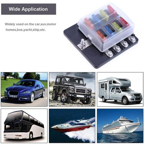 small resolution of details about universal car boat 8way circuit standard ato atc blade fuse box block holder