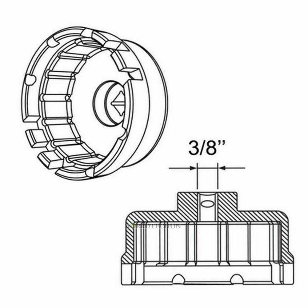 Aluminium Oil Filter Wrench Cap Housing Tool Remover 14
