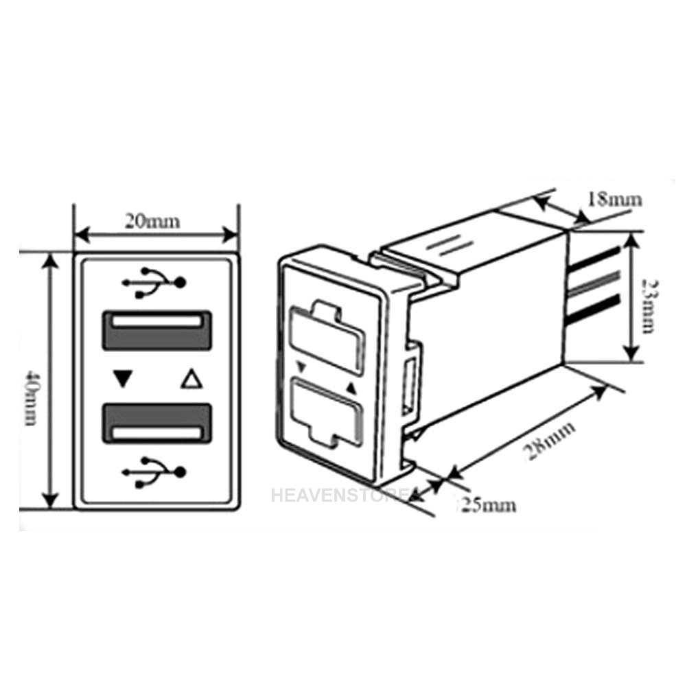 Car 5V 2.1A Dual USB Port Dashboard Charger Phone Socket
